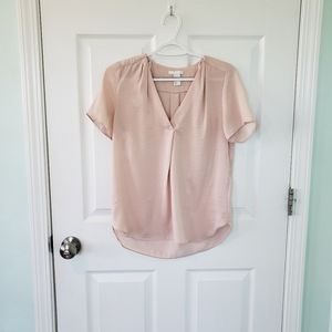 H&M light pink blouse